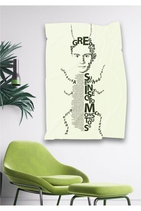 Hediyeler Kapında Franz Kafka Dönüşüm Dekoratif Duvar Örtüsü 110 X 150