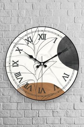 Muyika Design Muyika Arte Oval Gerçek Cam 36cm Duvar Saati