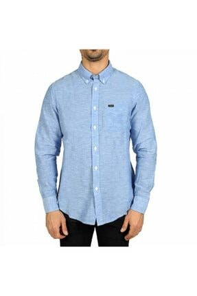 Lee Erkek Mavi Button Down Regular Fıt Gömlek