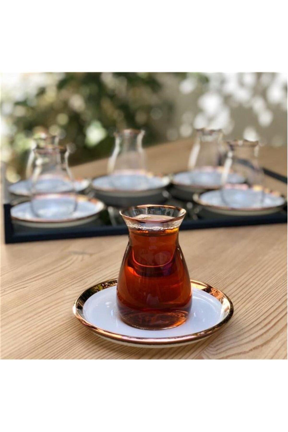 Glore Nıhavent Camillow Krem Rose Gold 6'lı Çay Seti 1