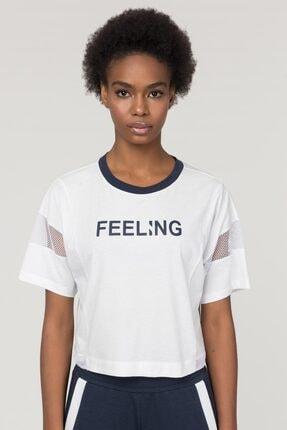 bilcee Beyaz Pamuklu Kadın T-Shirt FS-1118