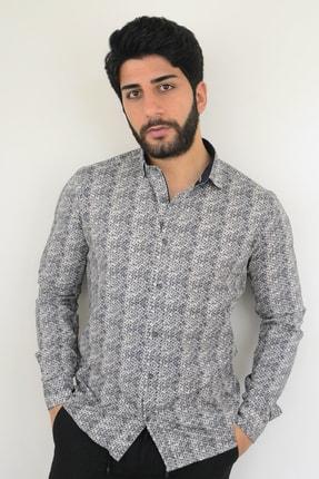 Mcr Erkek Gömlek Lacivert Çiçekli 37713 Model