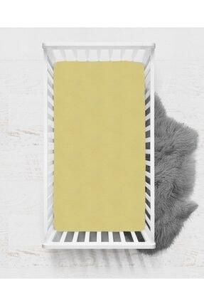 SEDEF HOME Bebek  Sarı Penye Lastikli Çarşafı 70x140cm