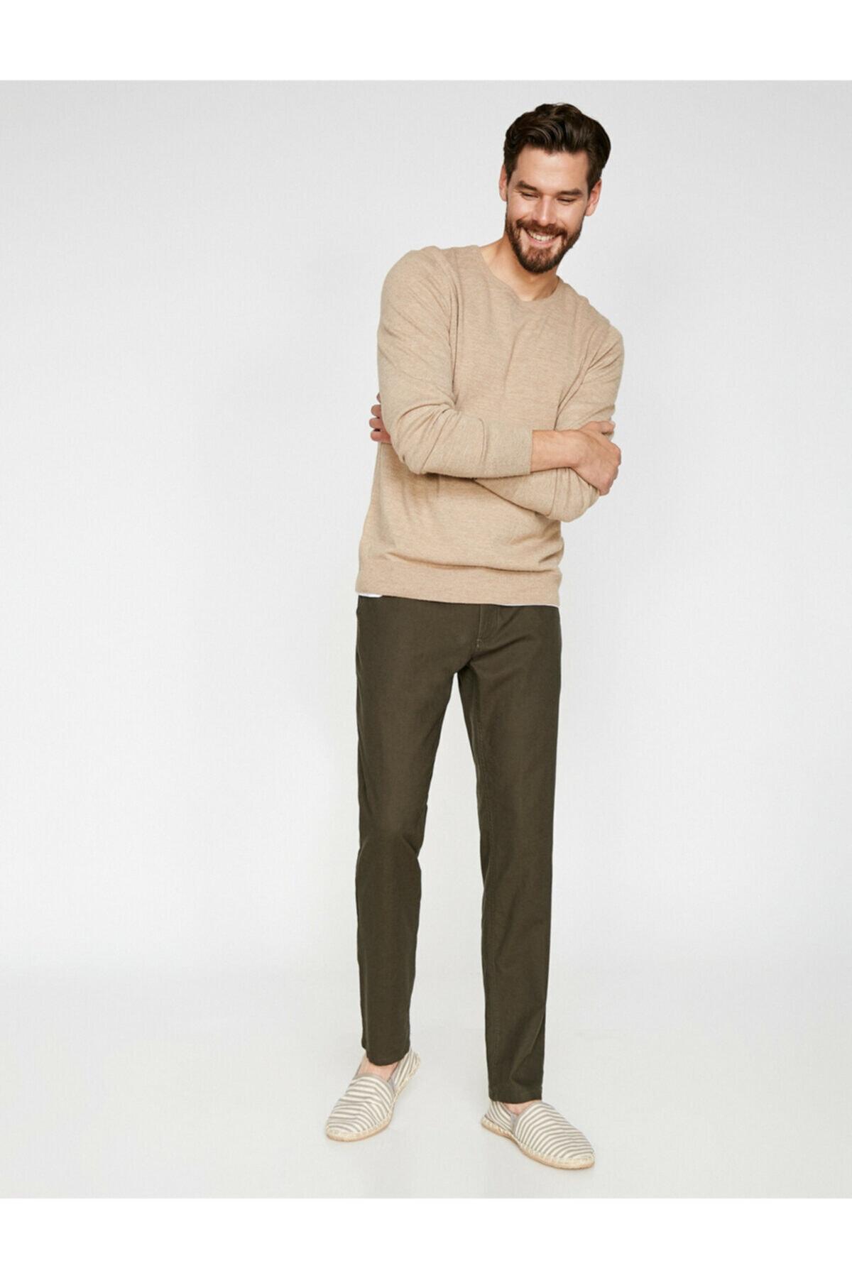 Koton Erkek Yeşil Cep Detayli Pantolon 9YAM41992BW 1