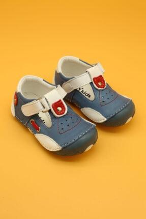 Db Kids Hakiki Deri Ortopedik Ilk Adım Bebek Ayakkabısı Mavi B114