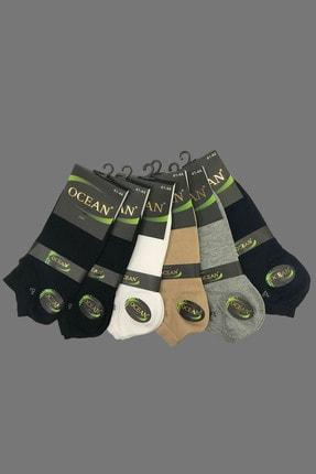 Ocean Erkek Siyah Bambu Patik Çorap 6'lı