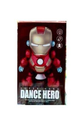 depoma consept Pilli Işıklı Dans Eden Demir Adam Robot Iron Man Oyuncak Figür Karakter Dans Eden