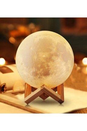 Nettenevime 3d Ay Lamba Gece Lambası Moonlıght 12 Cm *stand Hediyeli*