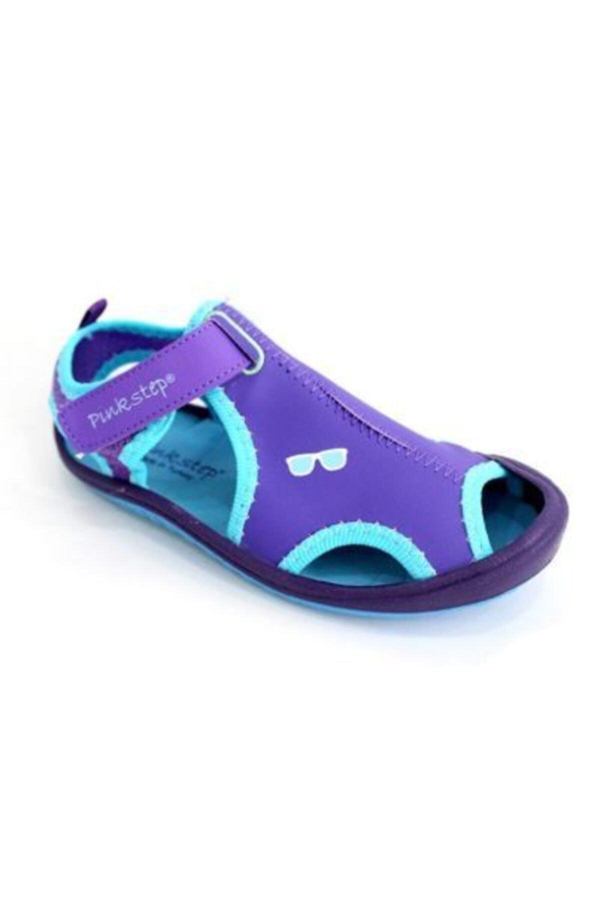Pinkstep Pink Step Jüpiter-4 Lila Kız Çocuk Cırtlı Sandalet 1