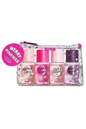Victoria's Secret Pink Warm&cozy, Fresh&clean, Soft&dreamy , Beach Flower 75 Ml Vücut Sprey Seti