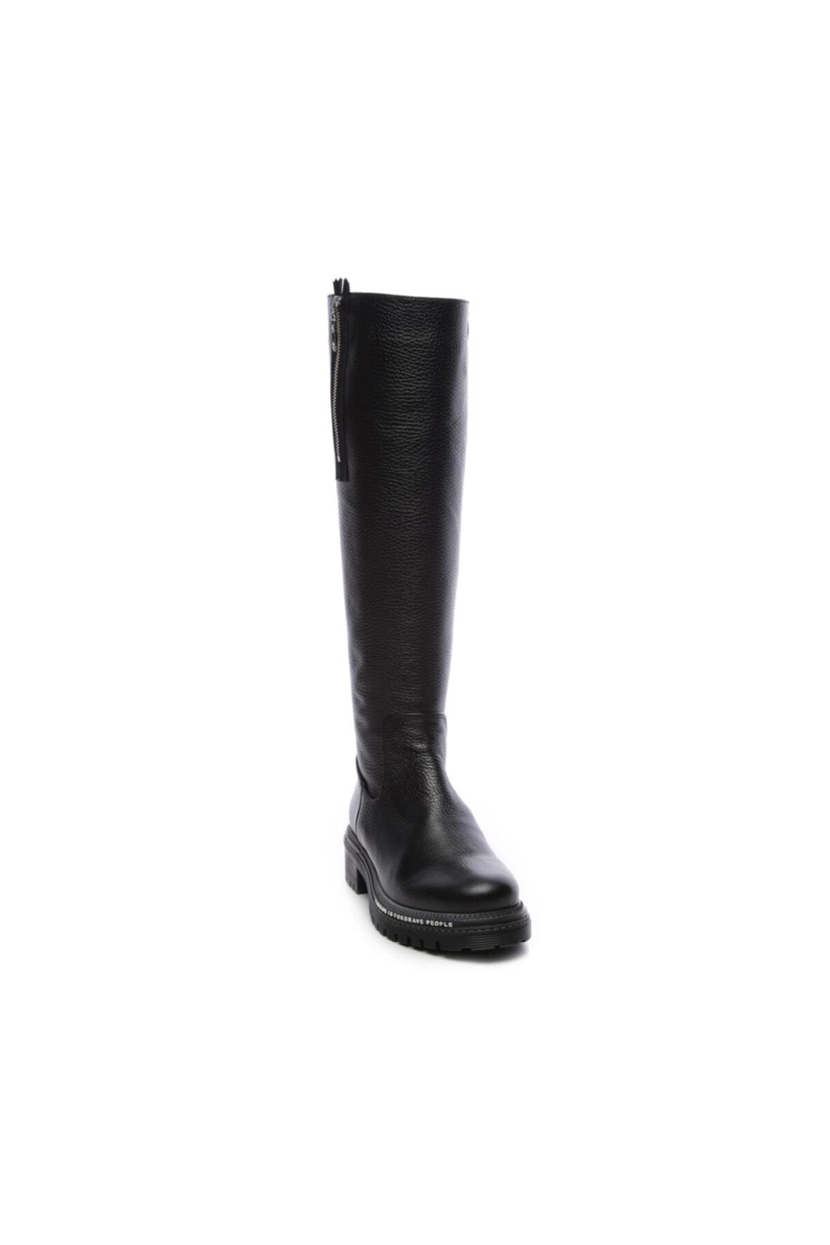 KEMAL TANCA Hakiki Deri Siyah Kadın Çizme Çizme 744 20652 C BN AYK SK19-20 2