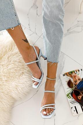 Limoya Hadleigh Bebe-mavi Bantlı Kısa Ince Topuklu Sandalet