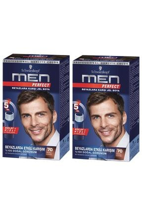 SCHWARZKOPF HAIR MASCARA Perfect Men 70 Koyu Kahve Saç Boyası X 2 Adet