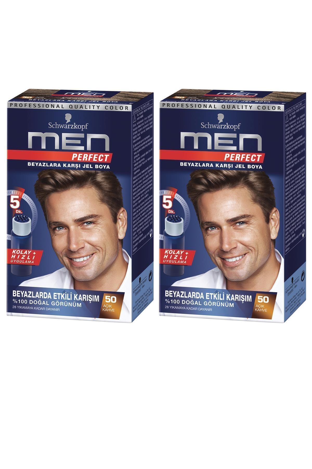 SCHWARZKOPF HAIR MASCARA Perfect Men 60 Kahve Saç Boyası X 2 Adet 1
