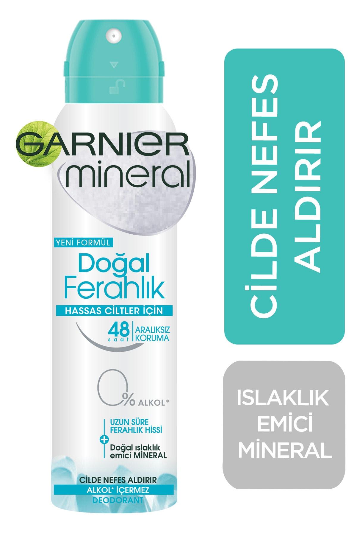 Garnier Anti Perspirant Sprey Deodorant Doğal Ferahlık 150 ml 1