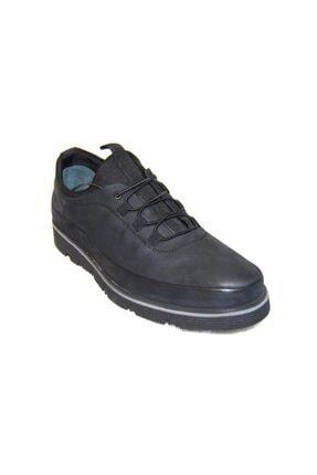 MARCOMEN Erkek  Hakiki Deri Casual Eva Siyah Ayakkabı