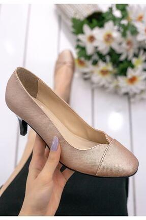 MODABULUT Berly Bakır Cilt Topuklu Ayakkabı