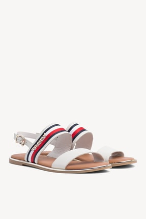 Tommy Hilfiger Kadın Flat Corporate Ribbon Sandalet