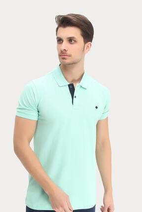 DYNAMO Erkek Su Yeşili Polo Yaka Likralı T-shirt T621