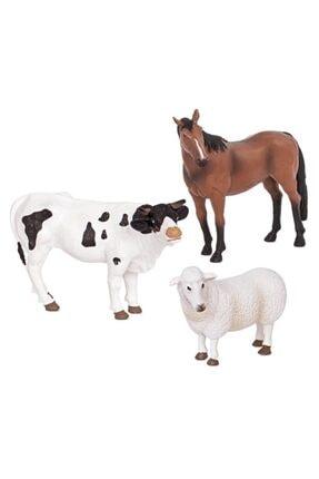 Isabel Terra Çiftlik Hayvanları 3'lü Set Koyun, Boğa Ve At