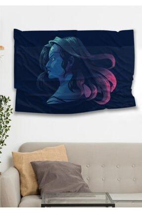 Hediyeler Kapında Super Woman Dekoratif Duvar Örtüsü
