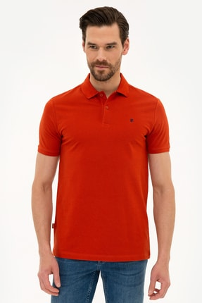Pierre Cardin Erkek Kiremit Slim Fit Polo Yaka T-Shirt