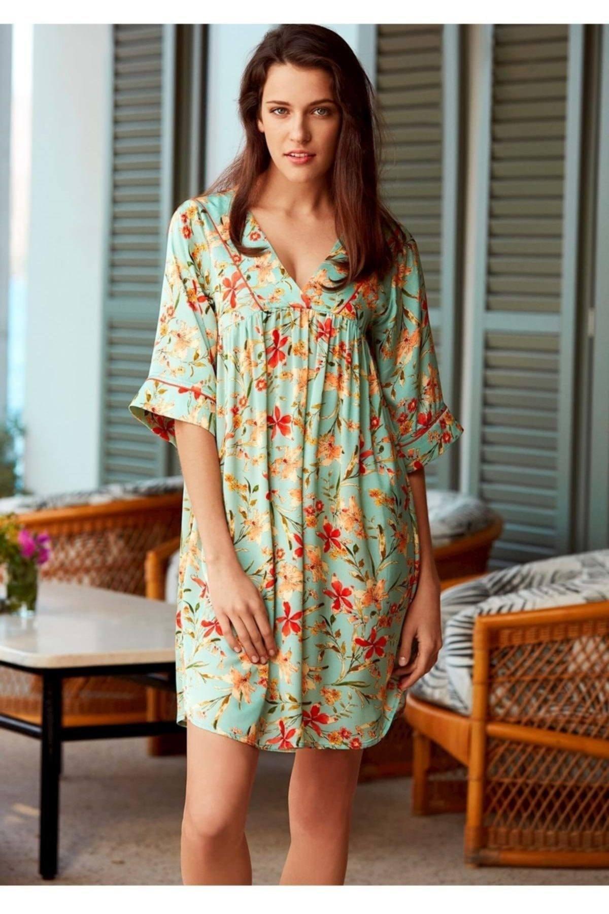 Penyemood Kadın Yeşil Elbise 1