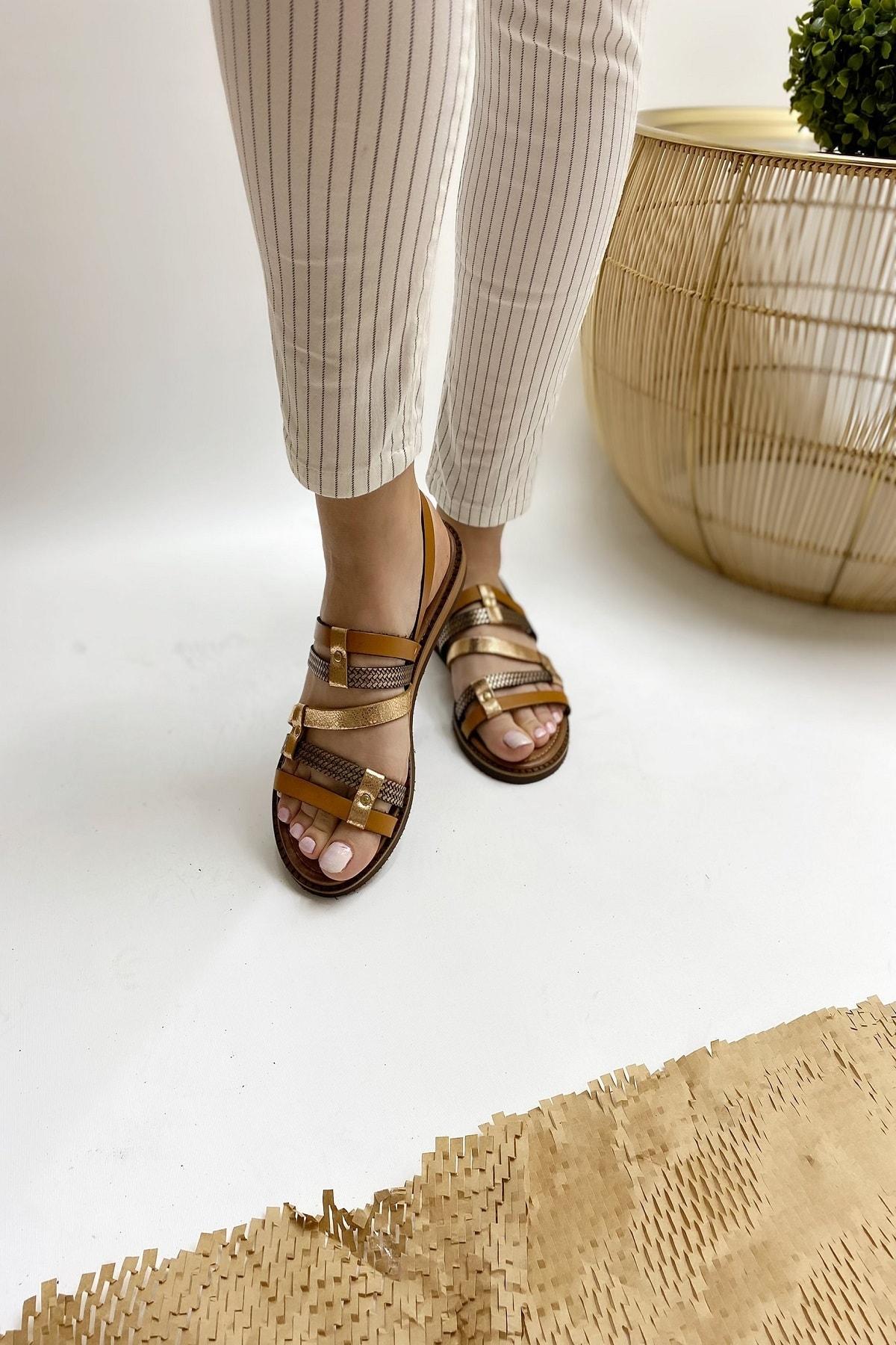 Ülkü Yaman Collection Kadın Hakiki Deri Sandalet 1