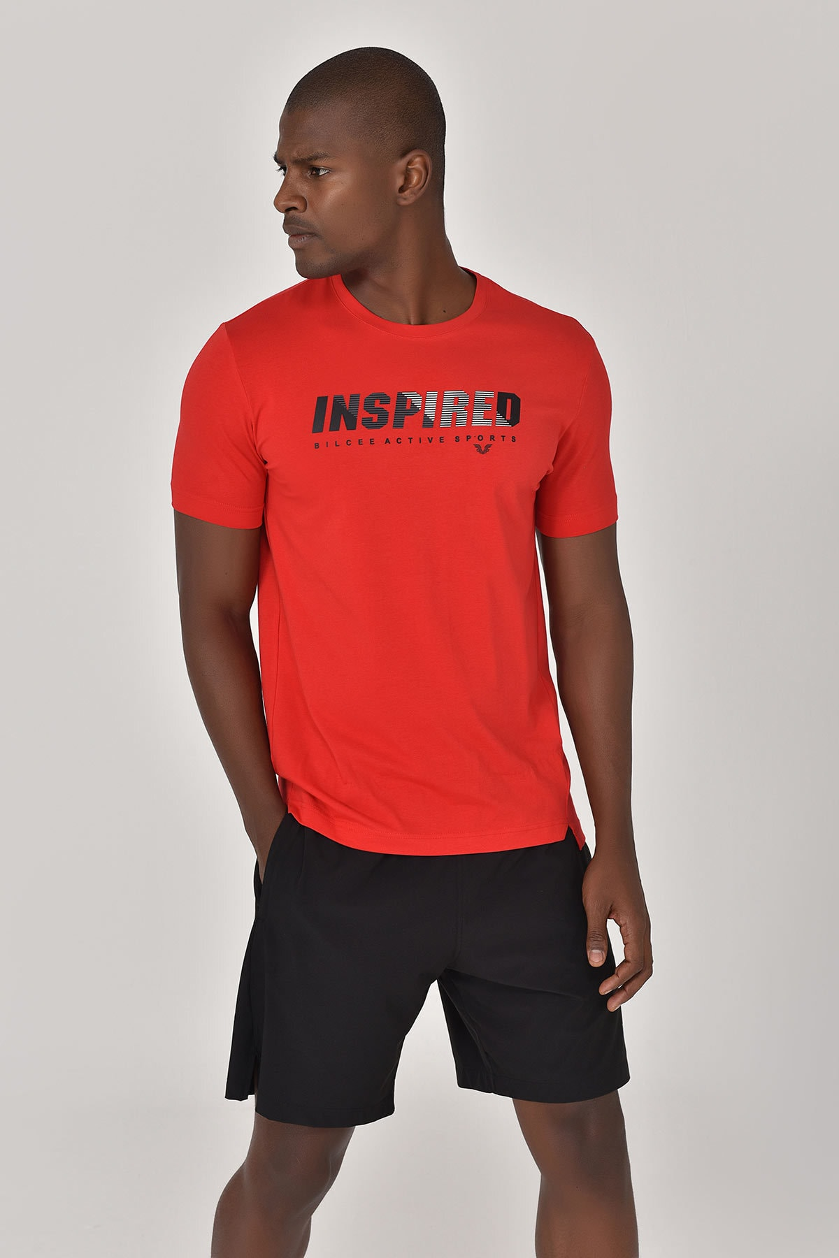 bilcee Kırmızı Erkek T-shirt  GS-8809 1