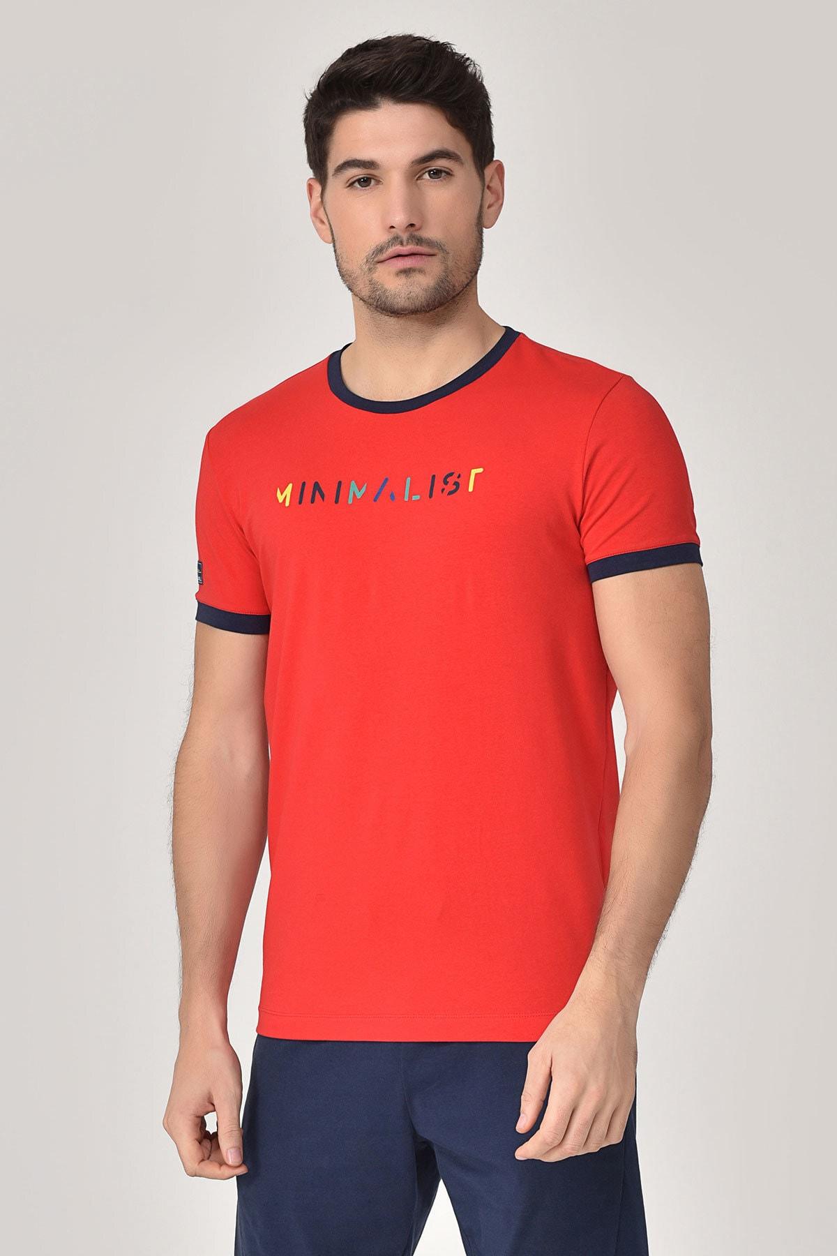 bilcee Kırmızı Erkek T-shirt  GS-8250 1