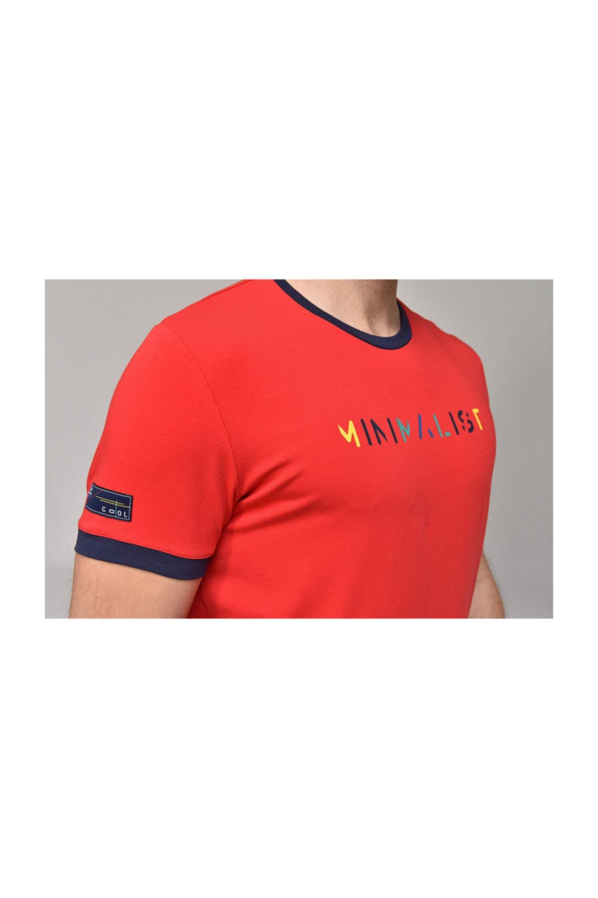 bilcee Kırmızı Erkek T-shirt  GS-8250 2