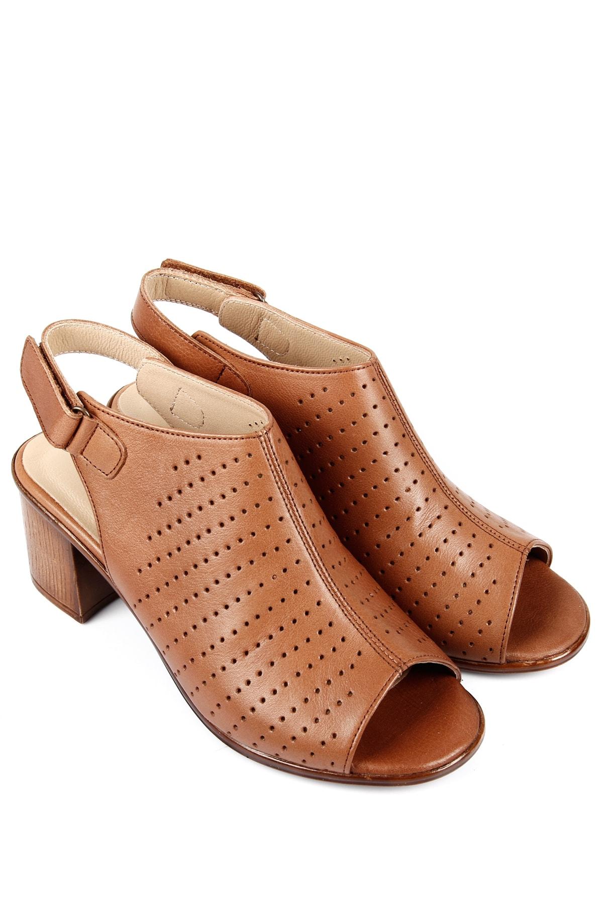G.Ö.N Gön Hakiki Deri Kadın Sandalet 45627 1