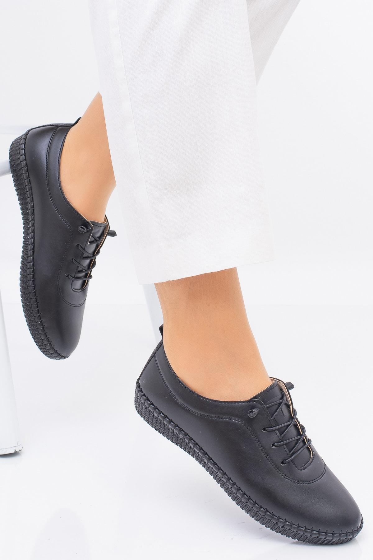 MelikaWalker Kadın Siyah Ortopedik Ayakkabısı 2