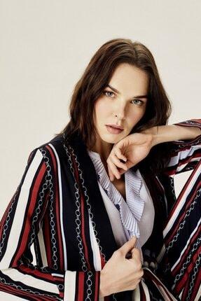Naramaxx Kadın Siyah Asimetrik Kimono Ceket