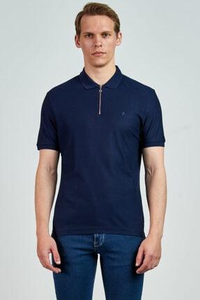 Giovane Gentile Erkek Lacivert Polo Yaka T-shirt