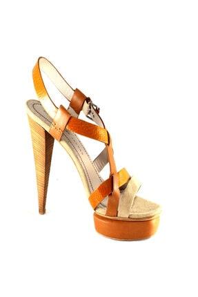 Marc Jacobs Kadın Topuklu Sandalet Viski Rengi 615977
