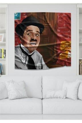 Hediyeler Kapında Charlie Chaplin Dekoratif Duvar Örtüsü