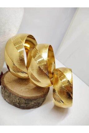 TAKI TASARIM Mega Bilezik 22 Ayar Altın Kaplama