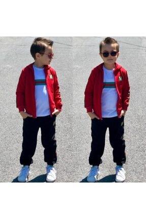 Nazar Kids Klasik Kırmızı Çocuk Eşofman Takımı