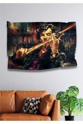 Hediyeler Kapında 110 X 150 Sherlock Holmes Dekoratif Duvar Örtüsü
