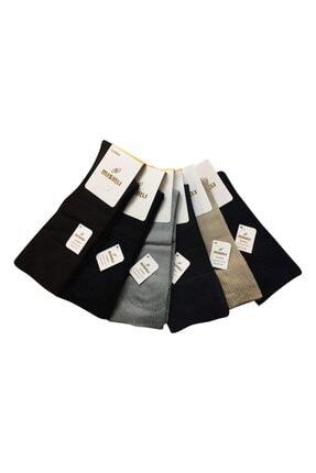 Mısırlı 6'lı Modal Lastiksiz ( Sıkmayan Lastikli ) Şeker Çorap