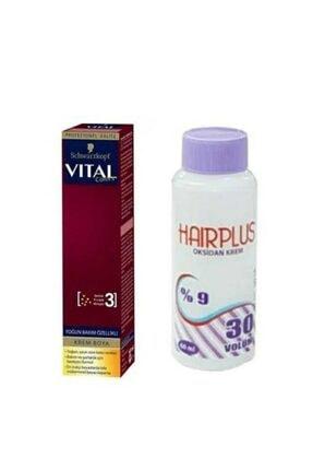 SCHWARZKOPF HAIR MASCARA Vital Colors P-11 Koyu Gümüş + Hairplus Mini Oksidan Krem 30 Vol.