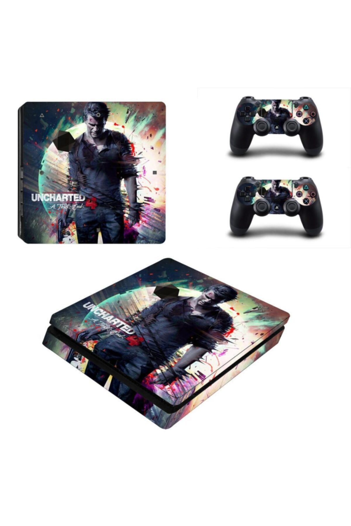 KT Decor Uncharted 4 Playstation 4 Slim Kasa Sticker Kaplama 1