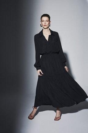 Latifa Nily Biritli Elbise Siyah