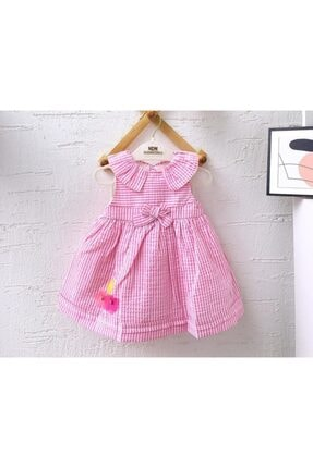 Midimod Çamaşırlı Kız Elbise %100 Pamuklu Keten
