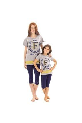 Fenerbahçe Orjinal Lisanslı Genç & Yetişkin Bayan Taytlı Pijama Takımı