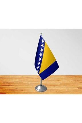 Vatan Bayrak Masa Üstü Bosna Hersek Bayrağı Tekli Masa Bayrağı Ve Direği