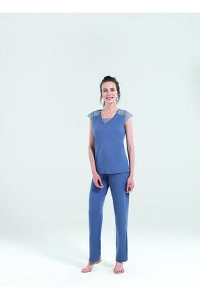 Blackspade Kadın Uzun Pijama Takımı 50123 - Antrasit