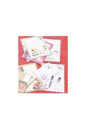 Platin Renkli Mektup Kağıdı Ve Zarf 10 Lu