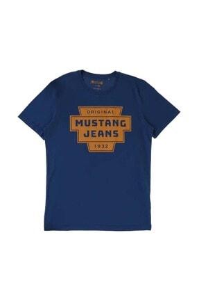Mustang Erkek Lacivert 0 Yaka T-Shirt
